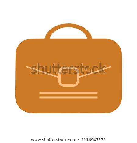 vetor · pasta · ilustração · isolado · branco · saco - foto stock © Mr_Vector