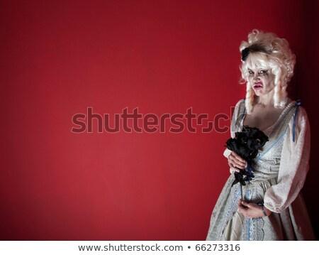 женщину белый парик Сток-фото © dash