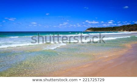 Yol silindir plaj kumlu ağaçlar sakin Stok fotoğraf © silkenphotography