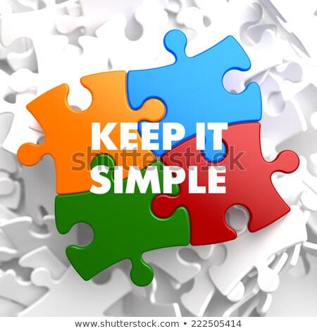 keep it simple on multicolor puzzle stock photo © tashatuvango