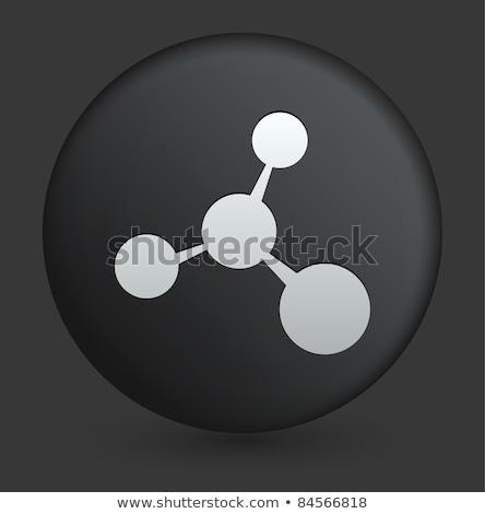 ícone preto botão abstrato educação medicina Foto stock © aliaksandra