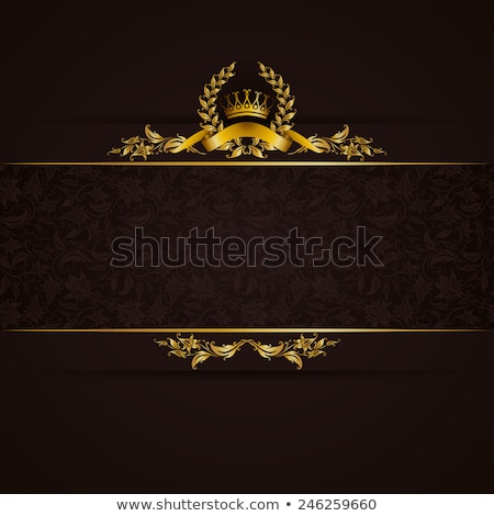 Stock photo: Classical black gift certificate with victorian decoration