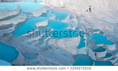 Travertine pool in Pamukkale, Turkey Stock photo © franky242