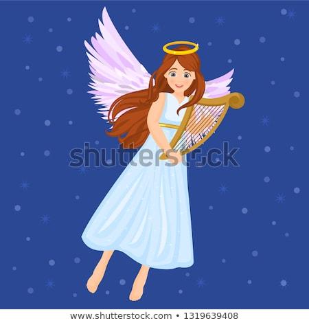 天使 楽器 抽象的な 画像 装飾された 星 ストックフォト © Soleil