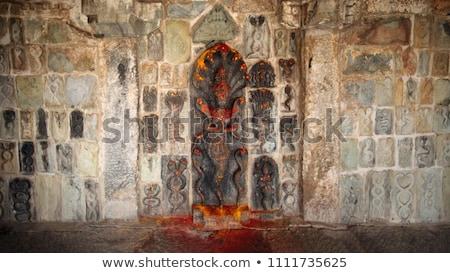 Serpiente dios templo piedra estatua sagrado Foto stock © searagen