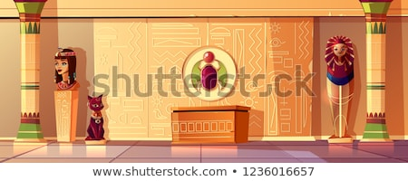 Cartoon Egyptian mummy Stock photo © antonbrand
