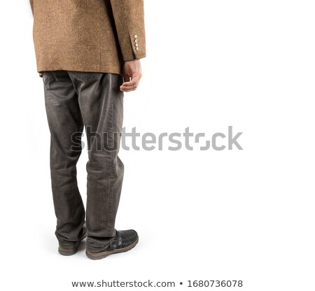 Back view of going old man in jacket. Stock photo © papa1266
