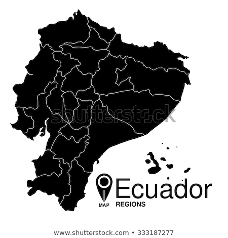 silhouette map of Ecuador Stock photo © mayboro