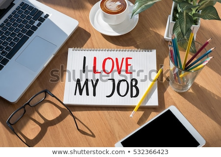 amor · meu · trabalho · homem · feliz - foto stock © stevanovicigor