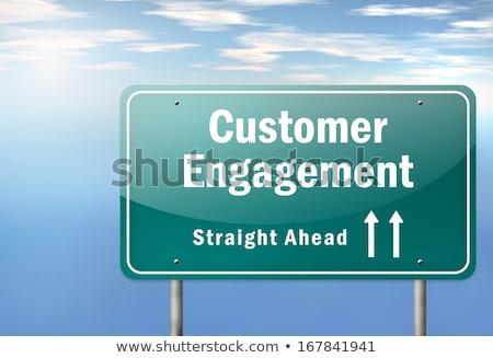 marketing · autópálya · útjelző · tábla · út · internet · terv - stock fotó © tashatuvango