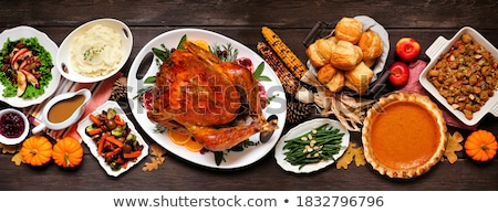 rolls from a turkey with apples stock photo © zoryanchik