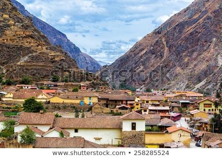 Vadi Peru yol ağaç manzara Stok fotoğraf © xura