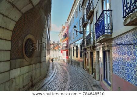 Lisbona colorato strada Portogallo stile retrò tram Foto d'archivio © joyr
