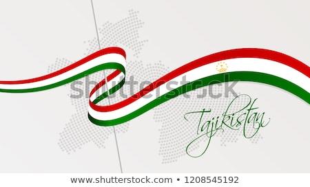 Pokaż republika Tadżykistan kropka wzór wektora Zdjęcia stock © Istanbul2009