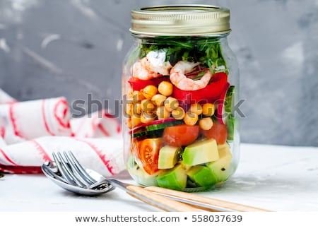shrimp salad in jar stock photo © barbaraneveu