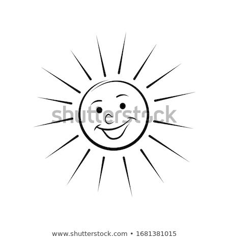 вектора счастливым Cartoon солнце улыбаясь небе Сток-фото © ulyankin