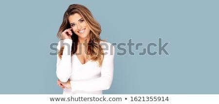 sensueel · blond · meisje · poseren · dame · glamour - stockfoto © neonshot