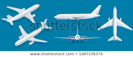 Airplane Landing Shadow Stock photo © silkenphotography