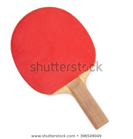 Pingpong racket isolated on white Stock photo © ozaiachin