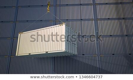 Magazijn logistiek Blauw opknoping vracht container Stockfoto © tashatuvango