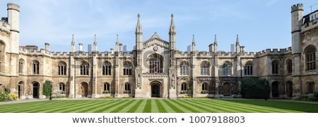Courtyard of the Corpus Christi College in Cambridge, UK Stock photo © AndreyKr