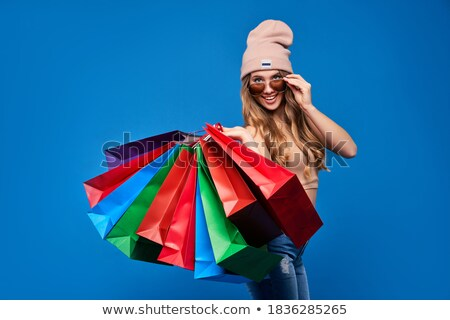 Beautiful girl with packages. Shopping. Stock photo © Aleksangel