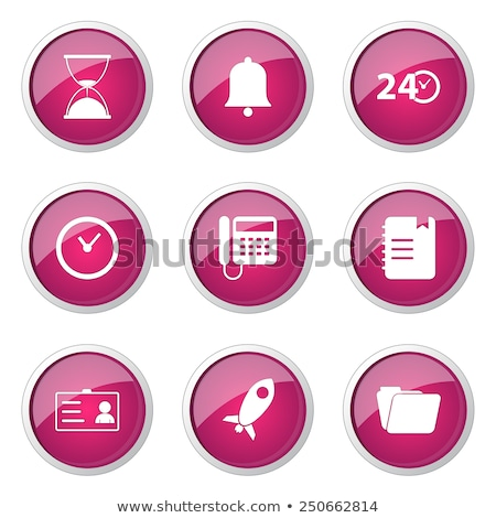 Time Duration Pink Vector Button Icon Design Set Stock photo © rizwanali3d