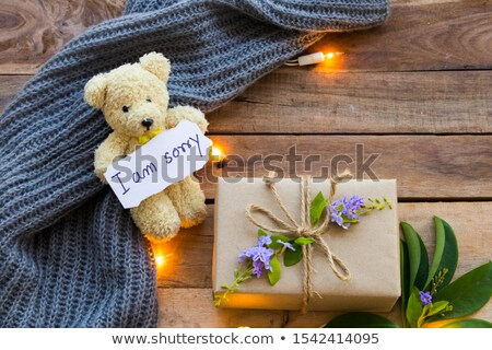 gift and card with the text I am sorry Stock photo © nito