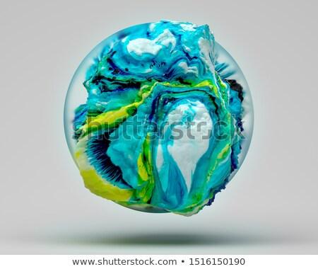 Fractal transparente vidro bola luz ilustração Foto stock © yurkina