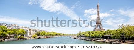 エッフェル塔 · 橋 · 川 · パリ · フランス · 雲 - ストックフォト © andreykr