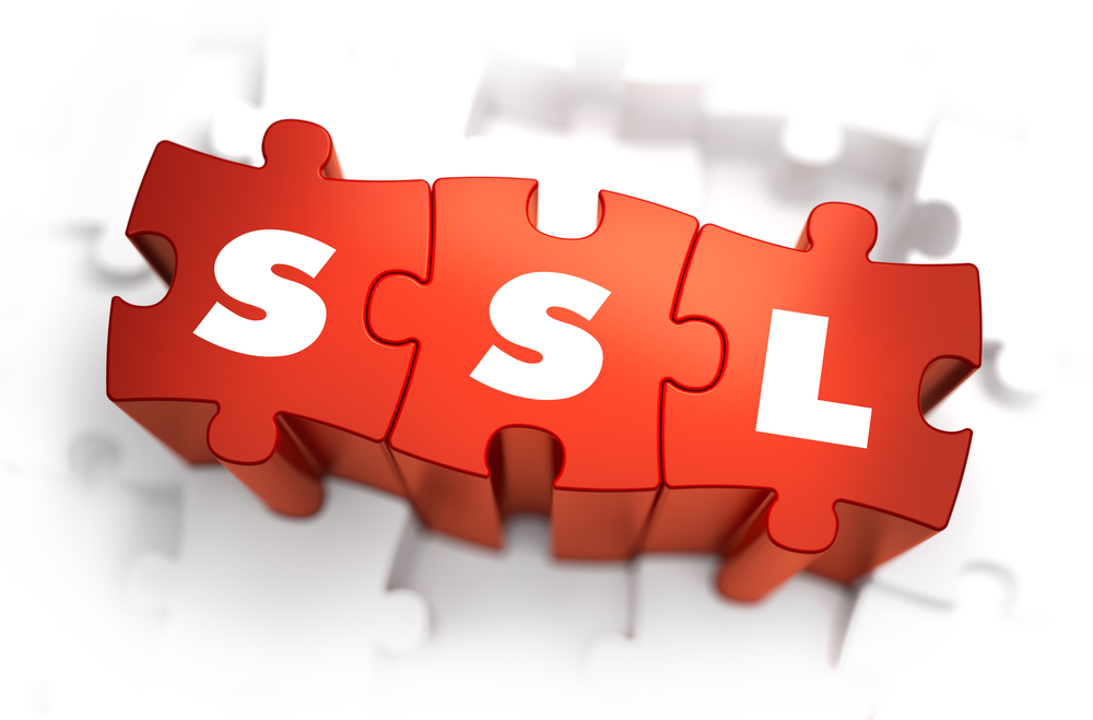 ssl   text on red puzzles stock photo © tashatuvango