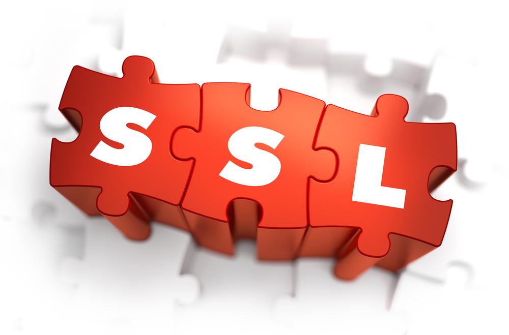 SSL - Text on Red Puzzles. Stock photo © tashatuvango