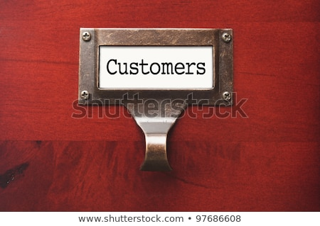 Stock photo: A drawer cabinet with the label Sales