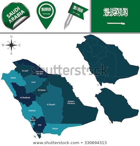 Mapa Arábia Saudita região fora isolado branco Foto stock © Istanbul2009