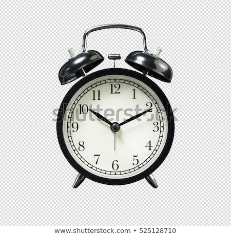 черный колокола часы будильник изолированный белый Сток-фото © tetkoren
