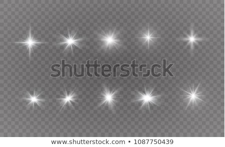 vector set of lens flares stars glowing elements stock photo © elisanth