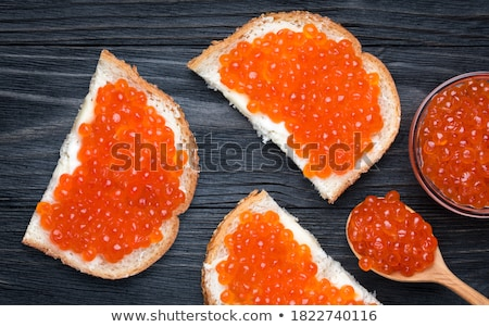 red caviar sandwich stock photo © ozaiachin