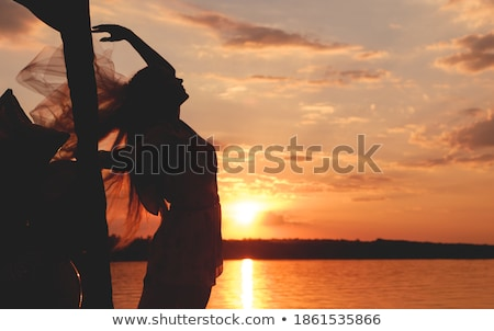 女性 · 赤 · 青 · 小さな · 美しい - ストックフォト © feedough