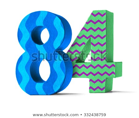 Colorful Paper Mache Number on a white background  - Number 84 Stock photo © Zerbor