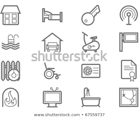 Real estate and accommodation amenities icons Stock photo © Winner