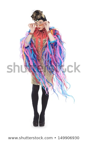 Drag Queen in White Dress Performing Stock photo © Discovod