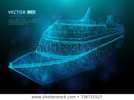 Buque vector simple limpio océano arma Foto stock © jeff_hobrath