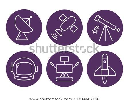 шлема фиолетовый вектора икона дизайна цифровой Сток-фото © rizwanali3d