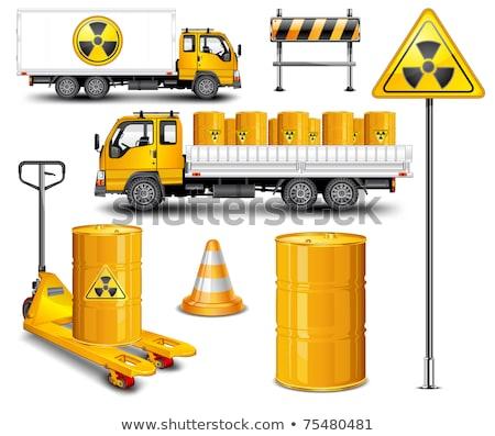 Fém hordó vegyipar villa teherautó izolált Stock fotó © AlisLuch