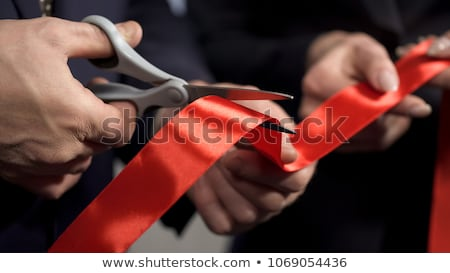Stok fotoğraf: Cutting Red Tape
