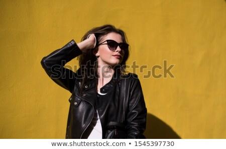 woman in dark sunglasses Stock photo © ssuaphoto