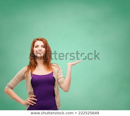 student · tablicy · kobieta · okulary · badania - zdjęcia stock © deandrobot