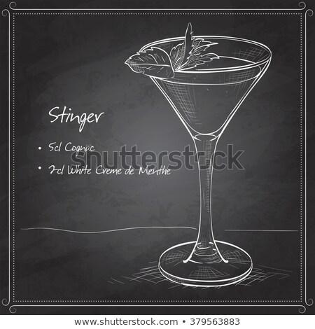 Cocktail cognac liqueur menthe poivrée Photo stock © netkov1