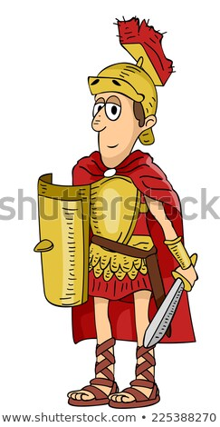 Roman Legionnaire Cutout Stock photo © Suljo