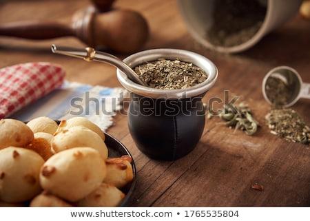 Companheiro vazio usado beber américa latina infusão Foto stock © rmbarricarte